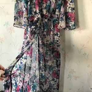 GUESS OFFICERS FLORAL CRISP SUMMER DUSTER